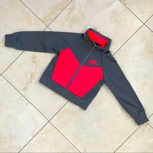 Nike Track Jacket Neon Red and Grey 2T
